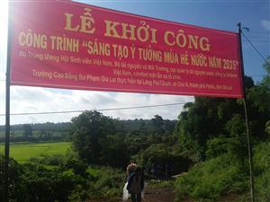 Khởi công xây dựng dự án nước sạch cho đồng bào Gia Rai, xã Chư Á, tỉnh Gia Lai