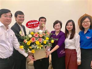 Thăm, chúc mừng GS.TS. NGND.Nguyễn Thị Mỹ Lộc nhân Ngày Nhà giáo Việt Nam 20/11