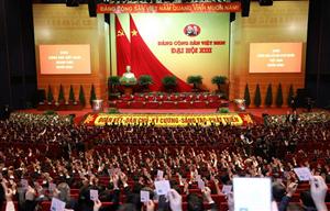 Đại hội lần thứ XIII của Đảng bước vào ngày làm việc đầu tiên