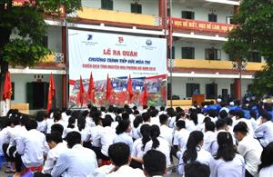 """Lào Cai: 500 bạn trẻ ra quân """"Tiếp sức mùa thi"""" và """"Hoa phượng đỏ"""" 2018"""
