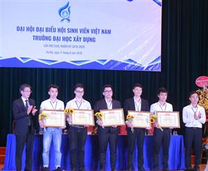 ĐH Hội Sinh viên Việt Nam trường ĐH Xây dựng nhiệm kỳ 2018 - 2020
