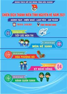 Tỉnh đoàn Bắc Giang triển khai chiến dịch thanh niên tình nguyện hè 2021