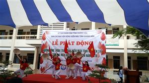 Hội Sinh viên trường CĐ Y tế Khánh Hòa phối hợp tổ chức Lễ phát động hướng ứng Ngày toàn dân hiến máu tình nguyện