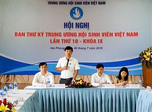 Khai mạc Hội nghi Ban Thư ký Trung ương Hội Sinh viên Việt Nam lần thứ 10 - khóa IX