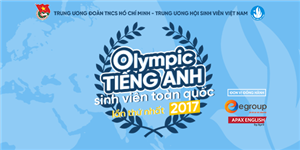 Hội thi Olympic Tiếng Anh sinh viên toàn quốc lần thứ I năm 2017