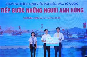 Tổng Công ty Bưu điện Việt Nam và Trung ương Hội Sinh viên Việt Nam tặng công trình sân chơi cho thiếu nhi Côn Đảo