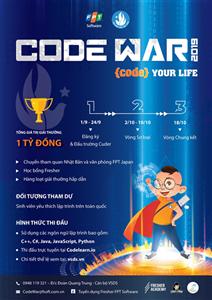 """Cuộc thi lập trình dành cho sinh viên mang tên """"Code War"""" năm 2019"""