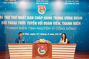 Bí thư thứ nhất Ban chấp hành Trung ương Đoàn đối thoại trực tuyến với đoàn viên, thanh niên cả nước