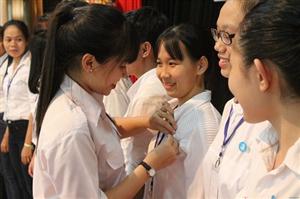 Lễ kết nạp Hội viên Hội sinh viên tại Học viện Hành chính Quốc gia CS TP.HCM