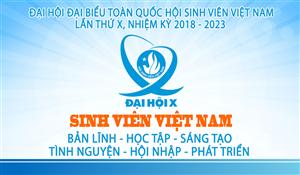 Chào mừng Đại hội X Hội Sinh viên Việt Nam