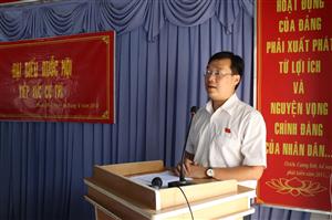 Đồng chí Lê Quốc Phong tiếp xúc cử tri tại huyện Tuy Phong, Bình Thuận