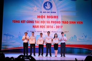 Hội nghị Tổng kết công tác Hội và phong trào sinh viên TP. Hồ Chí Minh năm học 2016 - 2017