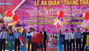 Hội Sinh viên tỉnh Khánh Hòa: Lễ Ra quân Tháng Thanh niên năm 2018