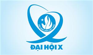 Biểu trưng chính thức của Đại hội Đại biểu toàn quốc Hội Sinh viên Việt Nam lần thứ X
