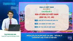 MÔN ĐỊA LÝ Chuyên đề 4: Địa lý dân cư Việt Nam