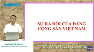 MÔN LỊCH SỬ Chuyên đề 5: Sự ra đời của Đảng cộng sản Việt Nam