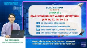 MÔN ĐỊA LÝ Chuyên đề 6: Địa lý công nghiệp & Dịch vụ Việt Nam