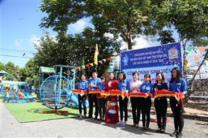 Hội Sinh viên Việt Nam tỉnh Đồng Nai: Trao công trình sinh viên Khu vui chơi thiếu nhi chào mừng Đại hội