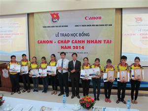 """THÔNG BÁO: Xét chọn học bổng """"Canon - Chắp cánh nhân tài"""" năm 2015"""