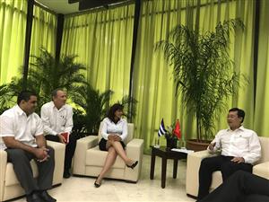 Đoàn đại biểu cấp cao của Trung ương Đoàn thăm Cuba