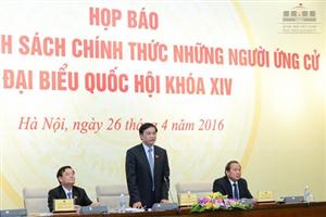 Công bố danh sách chính thức 870 người ứng cử Đại biểu Quốc hội khóa XIV