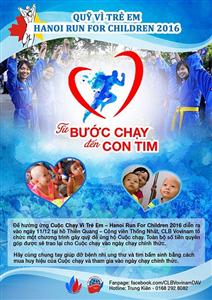 """Câu lạc bộ Vovinam-Việt Võ Đạo Học viện Ngoại giao tham gia """"Cuộc chạy vì trẻ em Hà Nội- Hanoi Run For Children 2016"""""""