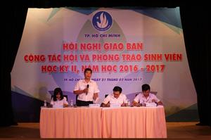 Hội nghị giao ban Học kỳ II và Chương trình trò chuyện với chuyên gia quốc tế năm 2017