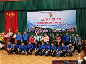 CĐ CĐ Hậu Giang: Ra quân Chiến dịch Mùa hè xanh năm 2017 háo hức và sôi động