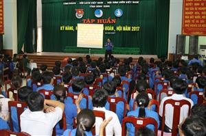 Tỉnh đoàn Bình Định tổ chức tập huấn kỹ năng, nghiệp vụ công tác Đoàn, Hội cho cán bộ Đoàn, Hội chủ chốt các cấp.