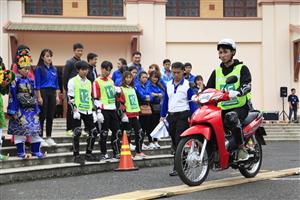 """Tổ chức hội thi """"Tìm hiểu luật giao thông đường bộ và kỹ năng lái xe mô tô an toàn khu vực Tây Nguyên năm 2017"""""""