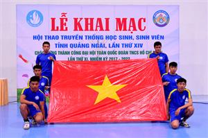 Khai mạc Hội thao truyền thống học sinh, sinh viên tỉnh Quảng Ngãi lần thứ XIV