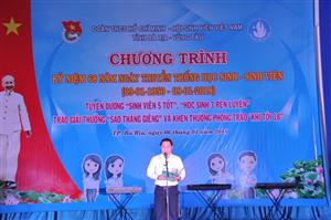 Hội Sinh viên Việt Nam tỉnh Bà Rịa – Vũng Tàu chào mừng kỷ niệm 68 năm Ngày Truyền thống Học sinh - Sinh viên.