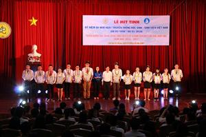 Trường Đại học An Giang mít-tinh kỷ niệm 68 năm Ngày truyền thống học sinh, sinh viên