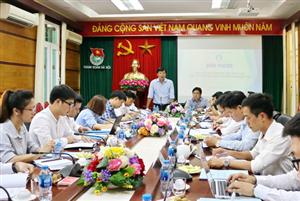 Thường trực Trung ương Hội Sinh viên Việt Nam làm việc với Ban Thư ký Hội Sinh viên TP Hà Nội