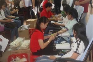240 đơn vị máu chào mừng thành công Đại hội đại biểu Hội Sinh viên Việt Nam Trường Đại học Tiền Giang