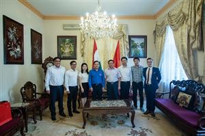 Đoàn công tác TW Đoàn làm việc với Đại sứ quán và Hội SVVN tại Hungary
