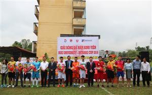 10 đội bóng tham gia Giải bóng đá nam sinh viên Hue University - Intrase Cup