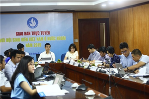 Giao ban trực tuyến với Hội SVVN ở nước ngoài đầu năm học 2019 - 2020