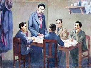 Đồng chí Nguyễn Ái Quốc chủ trì Hội nghị hợp nhất ba tổ chức Cộng sản, thành lập Đảng Cộng sản Việt Nam