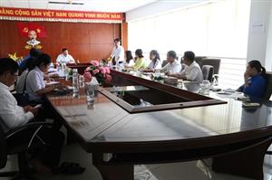 Đoàn công tác Trung ương Hội SVVN kiểm tra công tác Hội và phong trào sinh viên năm học 2019 - 2020 tại Hội SVVN trường ĐH Trà Vinh