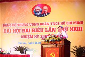 Đại hội đại biểu Đảng bộ Trung ương Đoàn TNCS Hồ Chí Minh lần thứ XXIII, nhiệm kỳ 2020 - 2025