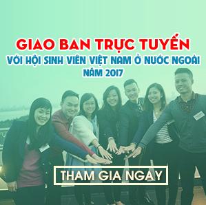 Giao ban trực tuyến với Hội Sinh viên Việt Nam ở nước ngoài năm 2017
